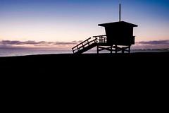 Lifeguard Tower Sunset (JM Simon Photography) Tags: silhouette lifeguardtower ocean sunset beach