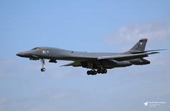 85-0084 Rockwell B-1B Lancer, United States Air Force, RAF Fairford, Gloucestershire (Kev Slade Too) Tags: 850084 rockwell b1b lancer usaf unitedstatesairforce egva raffairford gloucestershire