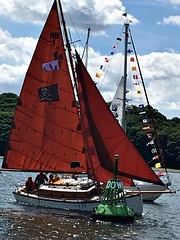 Nancy Blackett (The Nancy Blackett Trust) Tags: arthurransome swallowsandamazons nancyblackett sailing hillyard raggedrobiniii riverorwell suffolk england flotilla paradeofsail rhyc woolverstone