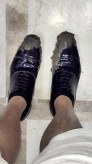 muddy patent dress shoes (muddy-suit) Tags: mud muddy patent leather suit shoes shiny
