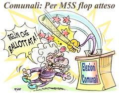 """GrilloFlop (Moise-Creativo Galattico) Tags: editoriali moise moiseditoriali """"editorialiafumetti"""" giornalismo attualità satira vignette gongolo flop grillo m5s"""