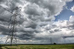 Dark Skies (jamesromanl17) Tags: landscape landscapes cheshire england britain countryside sky skies clouds cloud cloudscape cloudy light dark storm powerlines canon eos l 5d iii field fields rain
