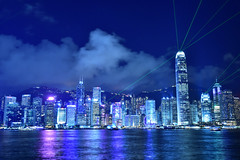 A Symphony of lights (Yuichi@hk) Tags: hongkong hongkongisland symphonyoflights night victoriaharbour tsimshatsui cloud building central admiralty nikon tamron 香港 夜景 中環 尖沙咀 金鐘 維港 シンフォニー シンフォニーオブライツ ビル 青 blue 幻彩詠香江