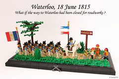 Waterloo: the ultimate battle? (Andrea Lattanzio) Tags: napoleon france waterloo belgium battleofwaterloo diorama french lego history war battle army grand armee minifigure minifig roadworks foitsop