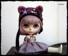 (GONE) New Kitty Helmet for Neo Blythe (Leshan1) Tags: lilac blythe blythecrochet blythehelmet blythehat helmet hat crochet leshan leshancrochet leshanhelmet leshanhat