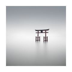 Kako no Kago (Rohan Reilly Photography) Tags: japan torii shirahige biwa lake hailstones longexposure minimalism minimal colour landscape