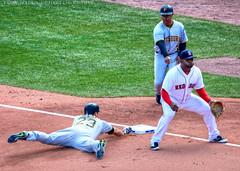 Safe! (Al Maryville) Tags: davidfreese pablosandoval joeycora fenwaypark boston openingday 2017 baseball redsox pirates