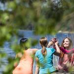 Friends on a picnic by a lake Kallavesi thumbnail