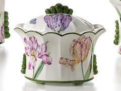 Caja decorada de cerámica, o porcelana, Hollanda. (Decoración para el Hogar.) Tags: cerámica caja decorativa decorada porcelana decoración hogar salones regalos bomboneras