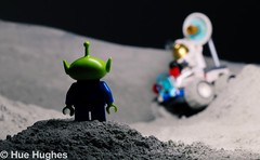 IMG_5120 (Hue Hughes) Tags: lego space spacemission moon moonlanding lunar astronaut unikitty benny superman alien mech spaceman rover lunarrover craters moondust toys macro fun cute apollo