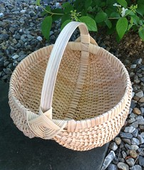 Egg Basket Ready for Nontoxic express/tea stain (Nutmegbasketry) Tags: eggbasket ribbasket nontoxicstain teastain basket baskets basketmaker handwoven ctmade ctmakers newenglandmade basketmaking basketweaving