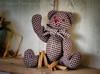 Just Sayin' Hi (HTBT) (13skies) Tags: checkered bear sitting clothespins waving wave hello teddybeartuesday happyteddybeartuesday situation playing friend sonyalpha99 sony bowtie happy houndstooth