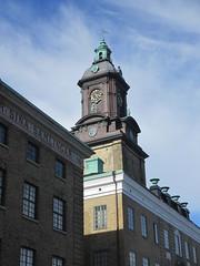 Tower of Tyska kyrkan, Gothenburg, Sweden (Paul McClure DC) Tags: gothenburg sweden sverige july2015 göteborg historic architecture church