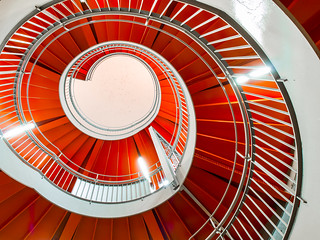 Red and White Spiral
