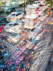 Chaos #9 (franleru1) Tags: bangkok omd olympus thailand thailande architecturecontemporaine art blur chaos city flou graphism photoderue streetphotography trafic urbain urbanism urbanisme ville