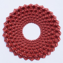 Red Ring (Imagirom) Tags: origami tesselation geometry ring imagirom twist