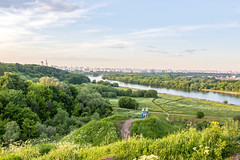 Moscow view from Dyakovo (Shark CR Photo) Tags: nature landscape sunshine hills river moscowriver moscow kolomemskoye dyakovo archeology sky cityscape water trees park summer june weather grass plants bushes hdr houses boat sigma1835f18dchsm sigma1835f18