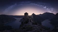 Dreaming (Raúl Podadera Sanz) Tags: milkway stars skyline sky rocks river hermitage water vialactea ermita rocas nightscape night noche nocturna longexposure