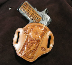 GIBSON GUNLEATHER 1911 COMMANDER WILD ROSE FLORAL (JBruceGibson) Tags: gibson leather holster california sheridan wildrose carve carved carving custom handmade kimber colt springfield raptor proraptorii stainless natural premium hermannoak tanned madeinusa usa america 45 acp commander 4 425 4inch brucegibson brucegibsondesign brucegibsondesigncom gibsongunleather gun gunleather glock sig mustang micro carry open conceal concealed concealment handcarved stamped flower auto automatic pistol proraptor