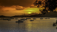 As The Sun Settles (Bernai Velarde-Light Seeker) Tags: amador panama city sea ocean pacific sailboats water crafts boats sunset dawn clouds bernai velarde centralamerica centroamerica