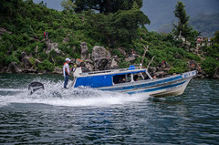 boat and people on Lake Atitlan (Pejasar) Tags: 2015 guatemala college mission
