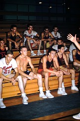 Found Photo - Howard College Basketball Team (Mark 2400) Tags: found photo howard college basketball team 1959 shirtless male