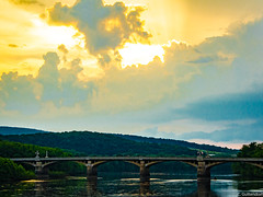 Watsontown Bridge (charlie_guttendorf) Tags: bridge guttendorf nikon nikon18200mm nikond7000 susquehannariver watsontownpa cloud clouds cloudy goldenhour nature outdoorphotogroahy outdoors outside river scenic sky sunlight sunset