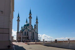 Qolşärif Mosque, Kazan Kremlin (Oleg.A) Tags: square spring landscape russia kremlin nature kazankremlin city cityscape viewpoint clouds qolşärifmosque alley oldtown building tower mosque islam architecture park morning tatarstan kazan outdoor islamic landscapes outdoors town казань мечеть respublikatatarstan ru