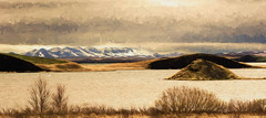 Mountains of Northern Iceland. (williamwalton001) Tags: iceland texture effect pentaxart park water weather mountains volcanicrock landscapephoto lake trolled
