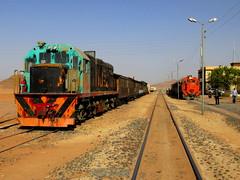 112.Wadi Rum with 955 built GE USA 1974 with 1850hp on tourist train (Scubatrack) Tags: jordan railways hejez wadirum