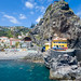 Yellow House and Rock in Ponta do Sol in Madeira