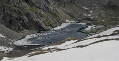 Spring at 9000ft (andreaskellermann) Tags: graubuenden grischuna engadin swiss switzerland mountainlake arctic spring lake ice melting schneeschmelze pass hike