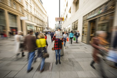 Lost (CoolMcFlash) Tags: person people woman map lost city urban vienna austria street streetphotography motion blur longexposure kärntnerstrase citylife personen fujifilm xt2 frau mappe stadt wien strase bewegung langzeitbelichtung zoom bewegungsunschärfe fotografie photography xf 1024mm f4 r ois dynamic dynamik