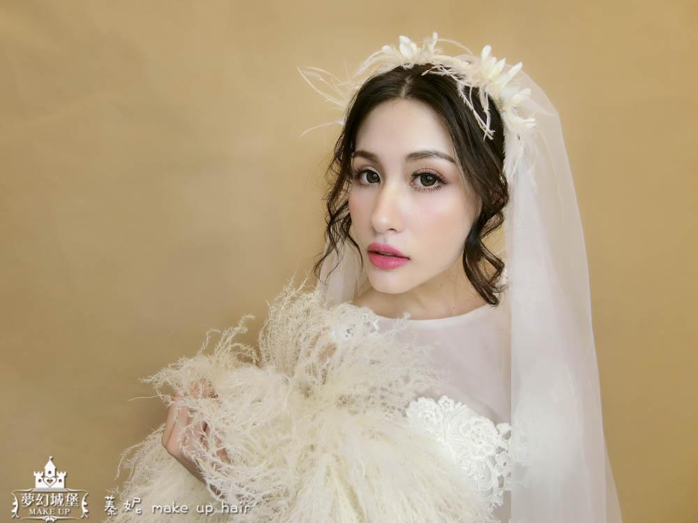 【新秘蓁妮】新娘造型創作 / 深髮色-空靈女孩