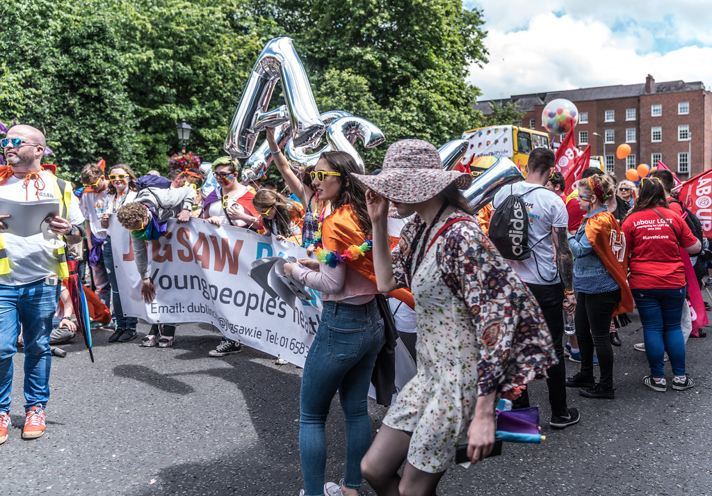 LGBTQ+ PRIDE PARADE 2017 [STEPHENS GREEN BEFORE THE ACTUAL PARADE]-129884