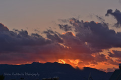 Sunset on fire (Nikos Roditakis) Tags: sunset june 2017 heraklion lovely sunsets cretan nikos roditakis nikon d5200 macro lens tamrn af sp 90mm f28 di vc usd