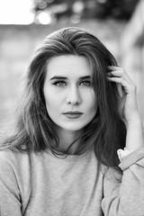 (DorotaPh) Tags: polish girl poland portrait model face makeup emotive 5omm nikon natural light bw black white spring eyes