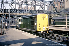 06/06/1970 - London (Liverpool Street). (53A Models) Tags: britishrail bth type1 class15 d8234 brush type2 d5582 diesel london liverpoolstreet train railway locomotive railroad