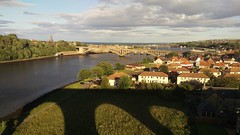 Berwick from the viaduct (Rob Watling) Tags: berwick berwickontweed viaduct shadow river bridge train eastcoastmainline border scotland england