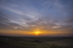 Longest day Sunset (gopper) Tags: sunset swindon wroughton barburycastle ridgeway longestday ngc scenery scenic golden old wiltshire nikon d7100 sigma 1020mm 10mm england uk high landscape british sun cloud cloudy