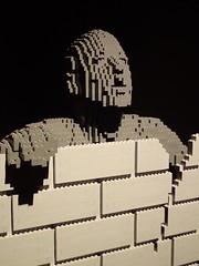Wall by Lego artist Nathan Sawaya (mharrsch) Tags: wall lego sculpture art nathansawaya artofthebrick exhibit omsi oregonmuseumscienceandindustry oregon mharrsch