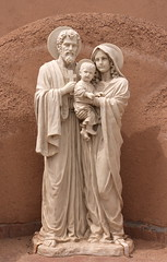 San Francisco de Asis Holy Family (Jay Costello) Tags: taos newmexico nm southwest sanfranciscodeasis church romancatholic holyfamily jesus christ mary joseph marble white