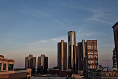 Detroit GM Building (Tyler Mulville) Tags: detroit michigan general motors gm canon 6d 1740mm wide cityscape horizon sky clouds sunset downtown