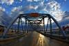 Steel Bridge Sunrise (s.w.Lepak) Tags: steelbridge sturgeonbay canon15mmf28 fisheye