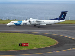 Bombardier Dash 8 approaching Horta 170616_026 (jimcnb) Tags: 2017 juni urlaub azoren azores açores faial horta airport castelobranco bombardier dash 8 cstrf sata