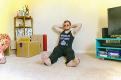 70s Pornstar-esque (Scott A Hamilton) Tags: male maleportrait portrait 70spornstar sunglasses 70s barefoot barefeet barefootedmale