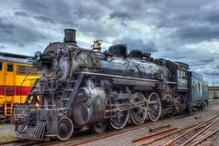 Go Soo (mazzmn) Tags: train locomotive engin engine steamengine hdr clouds vintage black cowcatcher hss