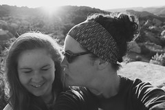 two years (haint_blue) Tags: bw blackandwhite monochrome nature daughter mother family moab utah canon