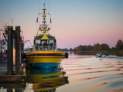 Pacific Navigator (iPhilFlash) Tags: fraserriver sunset water outdoor dusk vancouver dock pacificnavigator britishcolumbia sky stevestonharbour richmond canada pilotboat 3rdavenuepier outdoors steveston ca