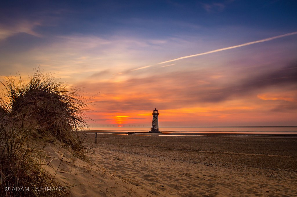 Sunset at Talacre beach